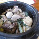 吉清水茶屋 - 軍鶏石釜鍋