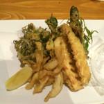 酒菜工房禅や - 白魚と季節野菜の天ぷら