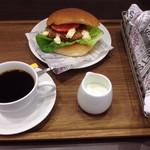 津のものキッチン - かわげバーガーセット