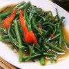 ティーヌン - 料理写真:空芯菜炒め