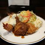 洋食SAEKI - 料理写真:ミックスフライランチ1,000円豪華!