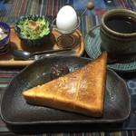 あきしの庵 - 料理写真:ブレンドコーヒー400円と小倉トーストセット