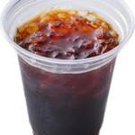 ロースター - 自家焙煎コーヒー(Ice)レギュラーサイズ¥100+税、ラージサイズ¥160+税