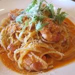 レストラン ドン・ボーノ - 料理写真:海老のトマトクリームソース