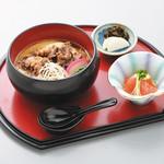 白石温麺茶屋 - 料理写真:牛肉うーめん