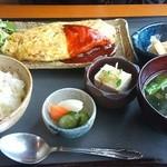旬菜 さい藤 - 納豆オムレツ定食
