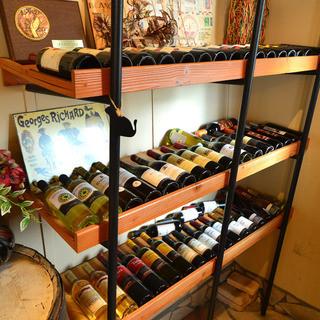 ワインの種類も豊富!