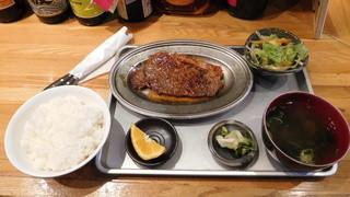 波幸 - 網焼きステーキ定食