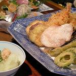 5034475 - 天ぷら盛り合わせ えび、芋、なす、ゴーヤなどなど