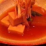 野菜料理と土鍋ごはんの店 侒 - 冬瓜と高野豆腐の生姜風味の冷たい煮物