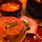 野菜料理と土鍋ごはんの店 侒 - 土鍋ごはんと五島麦味噌味噌汁