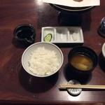 50340624 - ご飯&味噌汁&漬け物