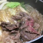 肉屋の正直な食堂 - 国産牛すきやき(1080円)