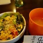 A-One - (2016/3月)ランチサラダとスープ