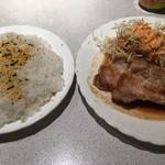 飛鳥 - ポークジンジャー 800円+ご飯大盛 150円