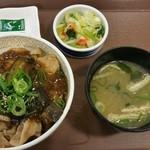 すき家 153号千種本町店 - マーボナス豚丼 並+おしんこセット