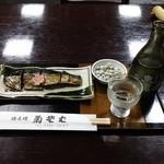 菊そば - 冷や酒とにしんの棒煮