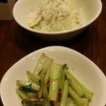 古武士 - 干しエビと江戸菜の塩だれ炒め:200円