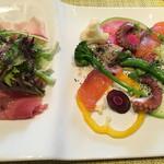 wainguradetanoshimubishokuterra - オーガニックパスタランチ税込2700円♤前菜
