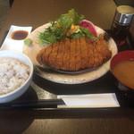 gyuukatsutonkatsujojokichi - 牛かつ膳(雑穀米)