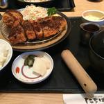 和食 たちばな - 豆腐コロッケとロースカツ膳