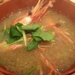 矢島鮨 - お椀、甘海老の頭