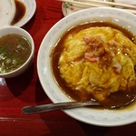青葉飯店 - 天津飯(950円)