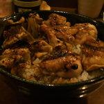 鳥銀 - お好きな串で丼(とりニン+とり皮)
