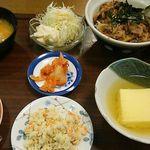 近江かね安 - 焼肉丼定食1,300円(税込)