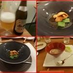 エスパイ クック コウベ - 野菜のジュレ、生ウニ、絹サヤ添え