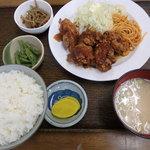 味の十八番 - 2016.4 鳥肉の唐揚げ定食