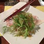 50366321 - 桜鯛の昆布〆めカルパッチョ仕立て カラスミ風味