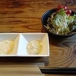 洋食春 - サラダとエビ用のマヨネーズ