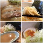 どろそば屋 ひろし - 炙りチャーシュー 低加水の中太麺