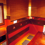醸し家ダイニング - オシャレな竹のロールスクリーンで個室感がさらにアップしました!