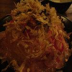 笑顔亭 - 大根と生ハムのサラダ