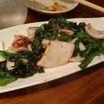 こな吉 - やり烏賊と菜の花の炒めアーリオオーリオ