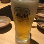 しゃぶしゃぶ温野菜 - ドリンク写真:まずは生ビールから…^^