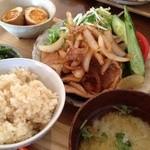 のっぺ食堂 - 料理写真:16/4/16 生姜焼き定食