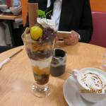和カフェ京あんじゅ - わらび餅パフェ