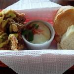 アオゾラテーブル - バゲット、本日の一品、お肉料理