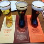 銀座ライオン - ミニブーツグラスDEエビスビール3種飲み比べセット