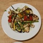 青 AO - 炭火焼その1 地野菜の盛り合わせ + ホワイトアスパラ