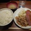 キッチン オニオン - 料理写真:ポーク焼肉&厚切りハムカツ¥750-