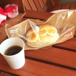 パン屋のオヤジ - コーヒー/ダブルたまご