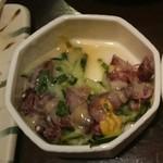 鶏々舎 - ホタルイカの酢味噌あえ。ちょっと食べちゃった。