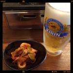 50396713 - 生ビール&キムチ