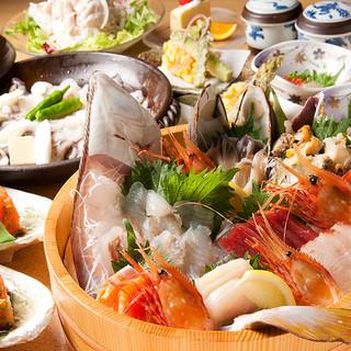 北海道近海の新鮮な魚介をどうぞ