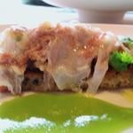 チンギアーレ - テスティーナディマイアーレのブルスケッタ仕立て うすい豌豆のソース