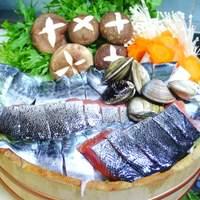 阿留酎 - 刺身に使う新鮮な魚を用い、阿留酎特製ポン酢で頂きます。¥2500(一人)予約